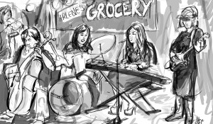 #Livedrawing 'Bulletproof Stockings' Play Arlene's Grocery